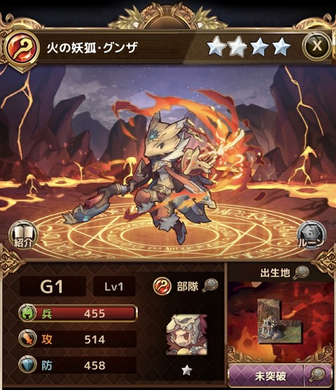 火の妖狐・グンザ